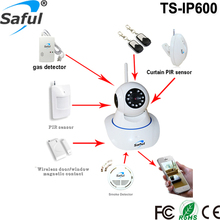 2016 Newest Top Saful Newest IP Camera Support WIFI B/G/N TS-IP600 Host 64 Zones Wireless Sensors