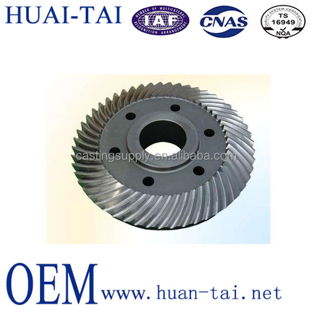 High quality customized helical/spiral bevel gear used for cone crusher from China