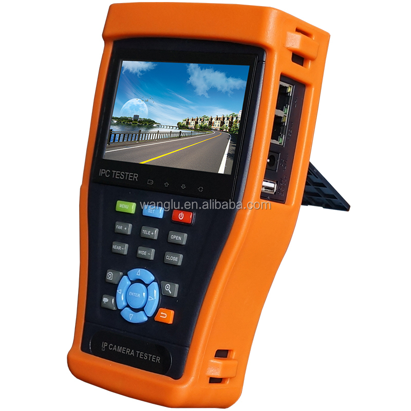 4.3'' touch screen CCTV AHD/CVI tester monitor with POE test