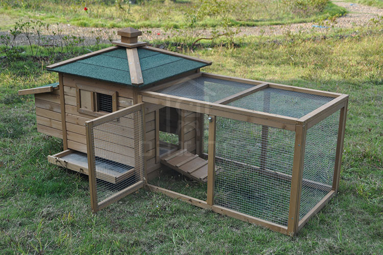 Easy clean best quality hot selling wooden chicken coop