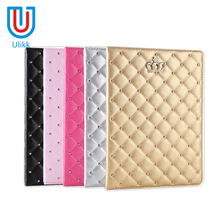 Diamond leather case for ipad air 2 Grip Pu leather stand smart case for ipad air 2 1 2017