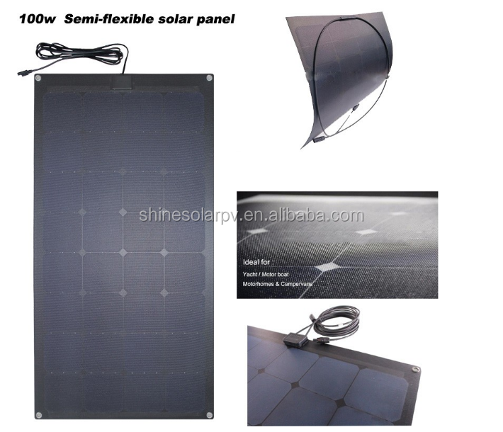 Framless Solar PV Modules ETFE Surface 100W Transparent Solar Panel For Roof Installation BIPV
