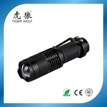 zoom function waterproof led mini flashlight aluminum LED torch light HL-6552A