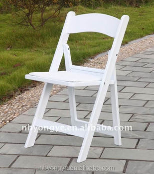 Hot selling White Garden Wedding Plastic Folding Chairs for bride and groom
