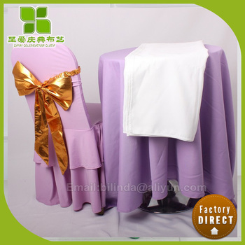 wedding purple spandex lycra chair cover