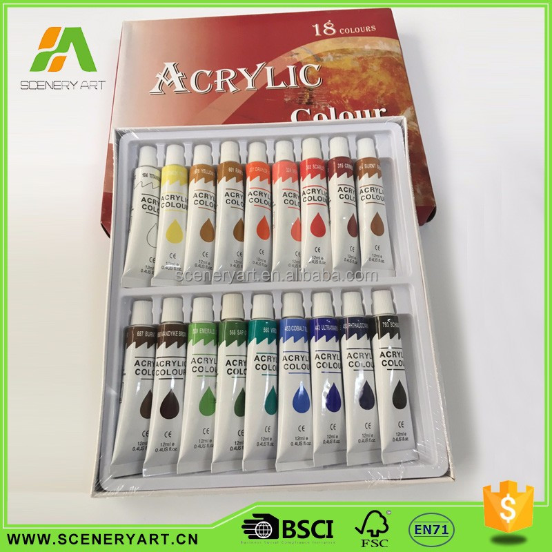 economic Factory supplier powder acrylic paint set