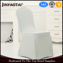 wedding high quality satin white seat cheap chair cover elastic leg pocket for wedding