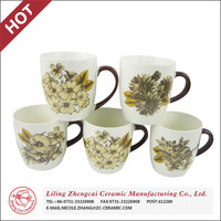 Ceramic wholesale vintage ceramic decals cup water