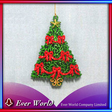 Made in Taiwan Christmas Plastic Green/Red Bows Tree Ornament for Christmas Tree/Christmas Decoration, Hanging Sets