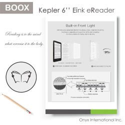 BOOX Kepler Pro eink Carta ebook readers flat panel notes with handwriting