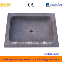 Chinese lime stone blue rectangular sink