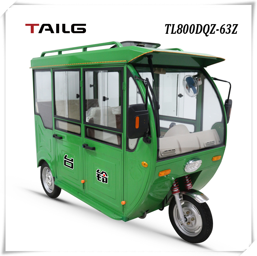 2016 dongguan TAILG china cheap electric passenger adult motor tricycle with cabin for sale