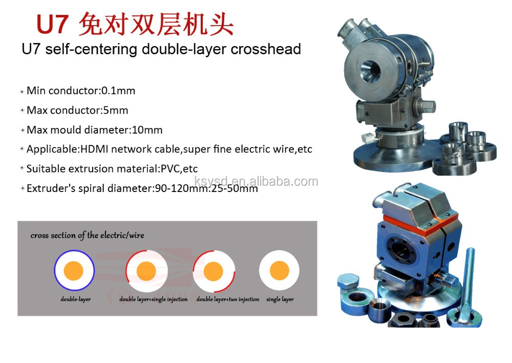 China wire extruder cable extrusion dual-layer crosshead