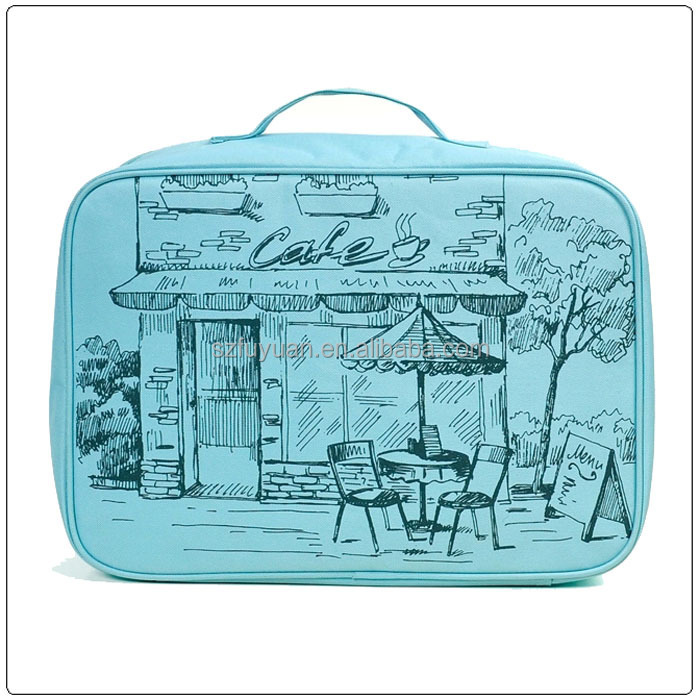 2017 Cartoon Printed Large Capacity Waterproof Travel Makeup Toiletry Bag With Popular <strong>Design</strong>