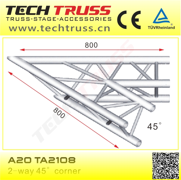 Dj Lighting Truss System Length 1500mm TECHTRUSS