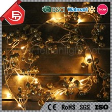 TZFEITIAN fairy warm white battery operated golden fruit party lights strings