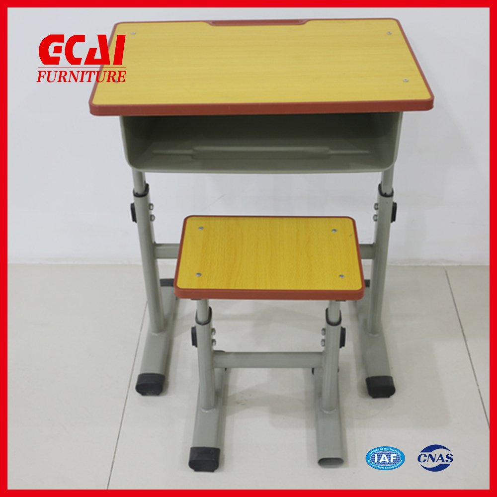 Promotional modern school desk and chair with metal frame