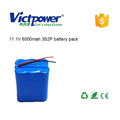 Customized 3S2P 11.1V 6000mah battery pack with samsung cells for christmas lights