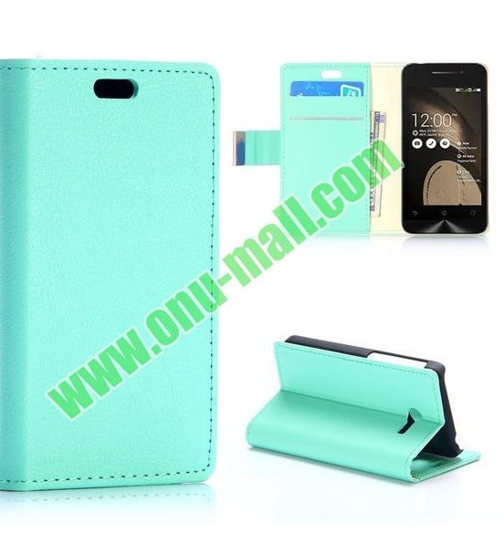 New Arrival Simple Fashion Wallet Flip leather case for Asus ZenFone 4 with Card Slots and Stand