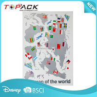 China sale super quality home national flag map wall stickers