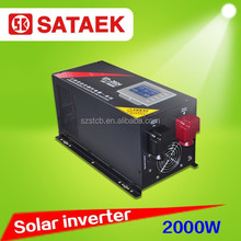 Pure Sine Wave DC to AC solar Inverter 2000w With charger