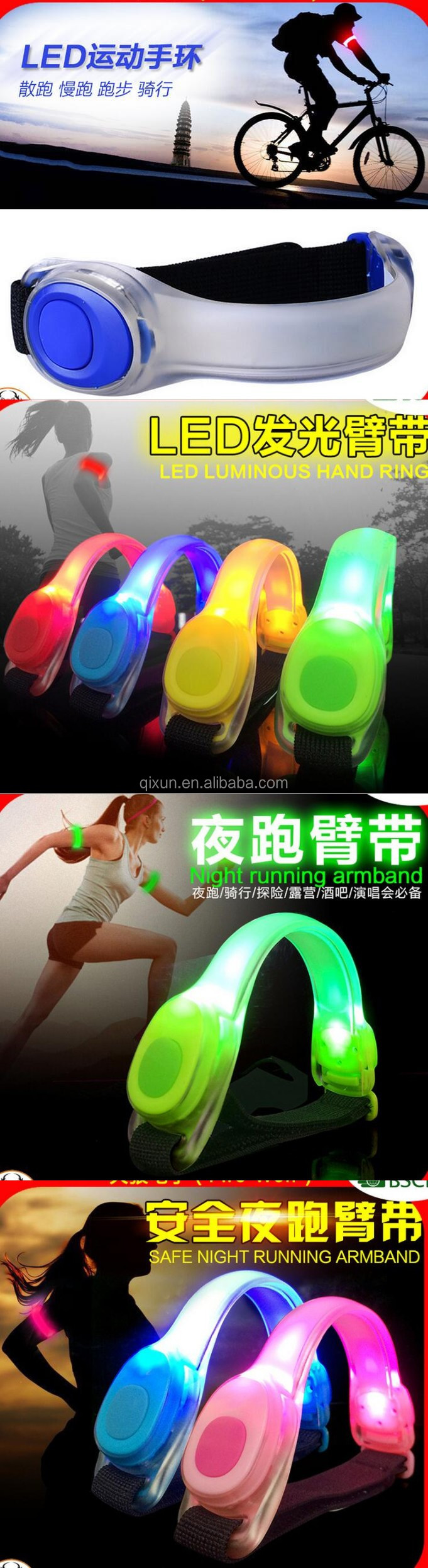 Safety Warning running flashing led band, flashing led armband, led armband for running paypal accept with custom logo