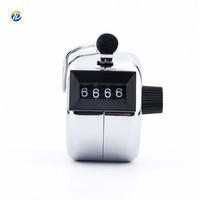 Hot sale Mechanical 4 digit number manual metal hand tally counter Click Counter