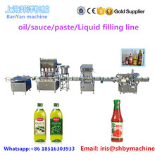 Automatic olive edible palm peanut sunflower seeds soy bean oil glass/ plastic bottle filling line price