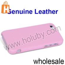 HOCO Brand Lichee Pattern Genuine Leather Case For iPhone 5 5S