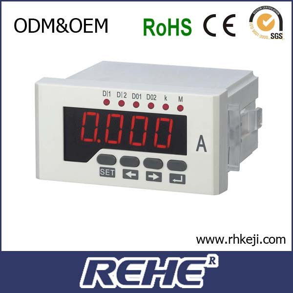 ammeter led current panel meter single line LED 1999 usb ampere meter