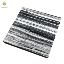 Most popular polished grey royal wood grain marble