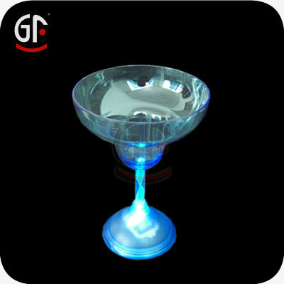 Led Flashing Margarita Glass With Food Safe Plastic