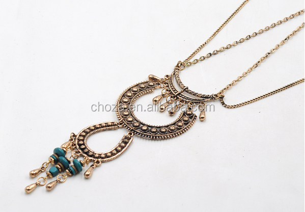 C68601A newest cheap style gold plating crystal bohemia statement necklace jewelry