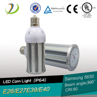 5 years warranty e26 e27 base led corn light 45W UL DLC led corn bulb e26