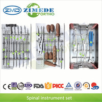 Spine instrument set spinal fixation system 6.0 rod pedicle screws medical device