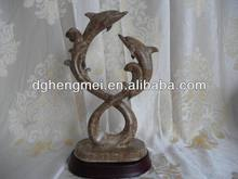 Polyresin dolphin sculpture