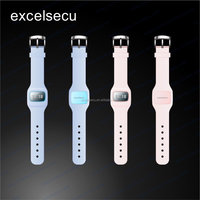 ESECU OEM custom NFC silicone smart watch with OLED display