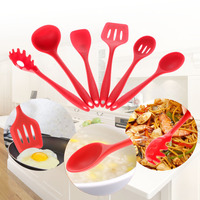 High Quality 6PCs/Set Food Grade Silicone Kitchen Tools Non-Stick Cooking Utensils Set FDA Approved