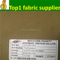 2014 shaoxing onway textile make-to-order supplier BEST PRICES!!! FREE SAMPLE 98% cotton 2% spandex twill
