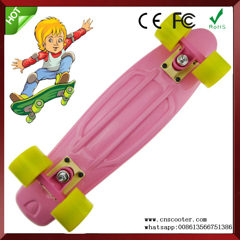 22 Inch Classic 4 Big Wheels Complete Plastic Skateboard