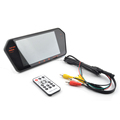 7 inch rearview LED monitor with mobile phone interconnected charge plus capacitive touch display