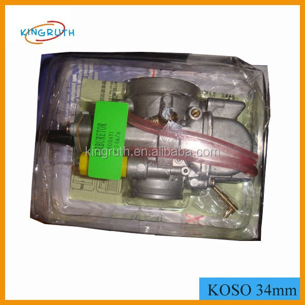 High Performance Racing KOSO Carburetor 34mm For 150cc 200cc Scooter Motorcycle GY6 OKO Carburetor With Power jet