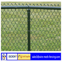 ISO:9001 alibaba China factory direct sale pvc coated 9 gauge 6ft chain link fence for road with high quality low price
