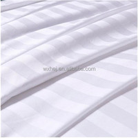 Satin Stripe Dobby sheeting fabric for hotel bedding