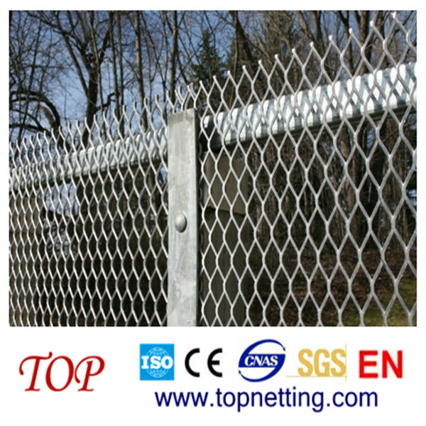 Galvanized expanded metal lath fence