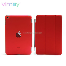 For iPad Mini 4 cover PU leather case available folding stand tablet cover