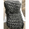 Professional OEM custom color size 100% wool chunky knit winter blanket