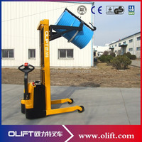 Full Electric Lifting Rotating Stacking Drum Handling Trucks