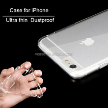 Lowest Price High Quality Soft Transparent Plastic Phone Case For iPhone 6
