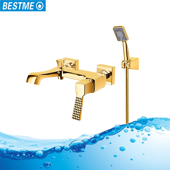 Luxury and bathtub faucet mounted rain shower set square rain shower head set